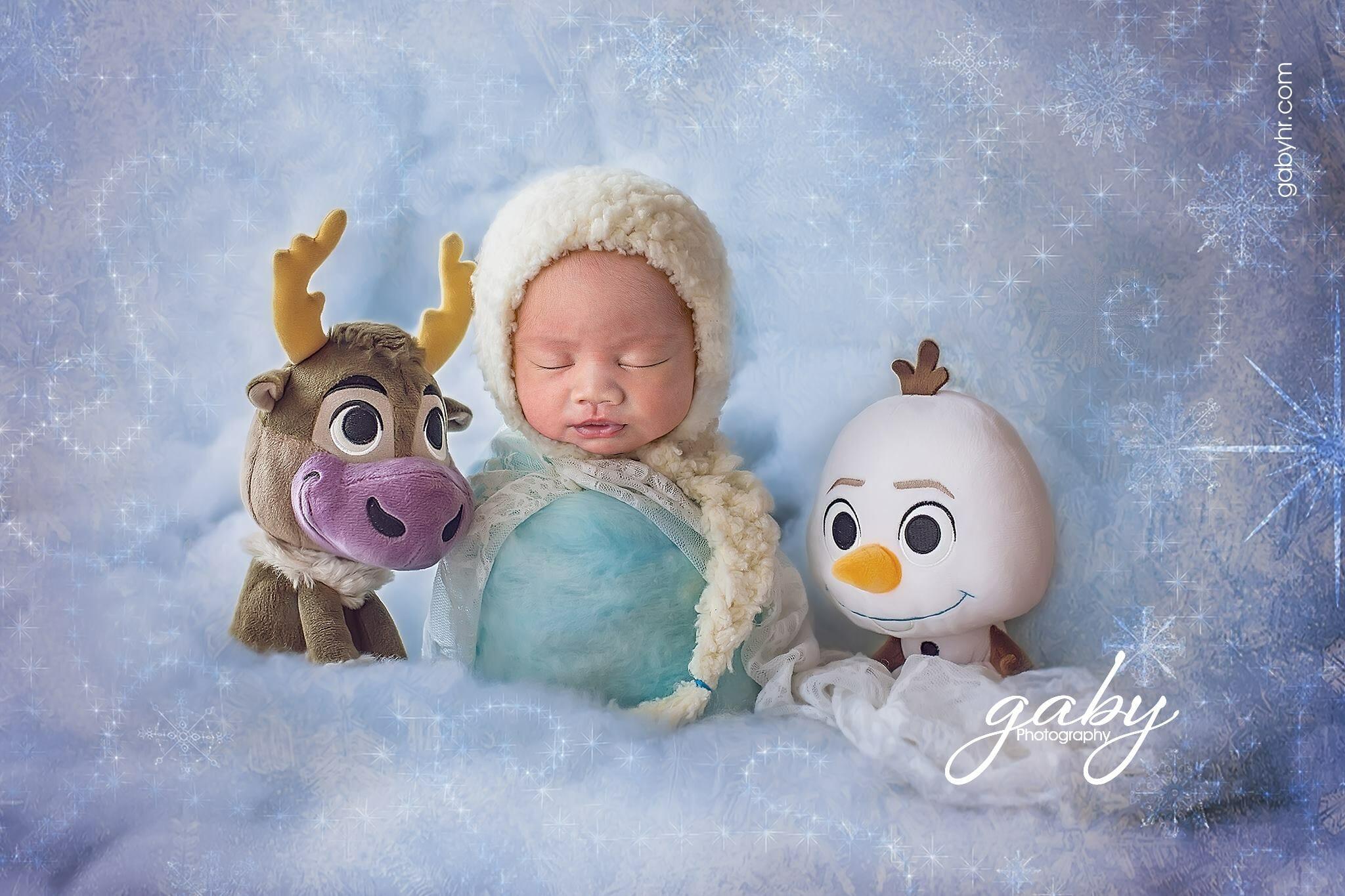 Baby Photo Frozen Theme